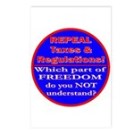 Repeal Taxes#1c Postcards (Package of 8)