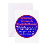 Repeal Taxes#1c Greeting Cards (Pk of 20)