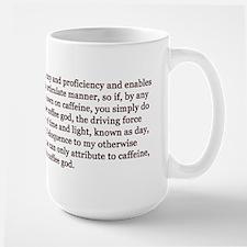 Rejoice Coffee God Large Mug