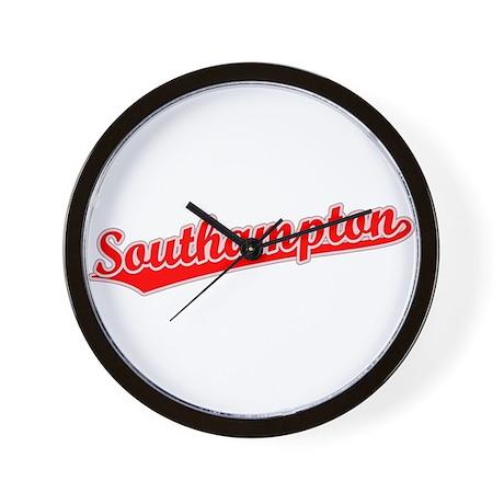 Retro Southampton (Red) Wall Clock