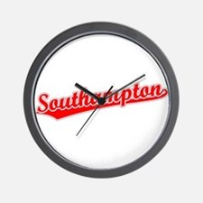 Retro Southampton (Red) Wall Clock