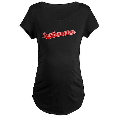 Retro Southampton (Red) Maternity Dark T-Shirt