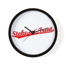 Retro Stoke-on-Trent (Red) Wall Clock