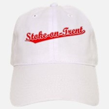 Retro Stoke-on-Trent (Red) Baseball Baseball Cap