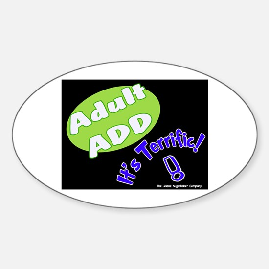 Adult ADD Oval Decal