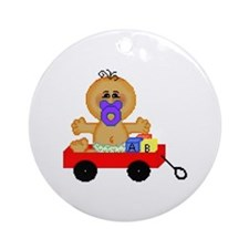 Little Red Wagon Keepsake (Round)