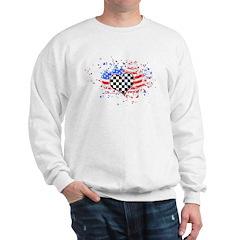 USA Flag Racing Sweatshirt