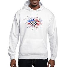USA Flag Racing Hoodie