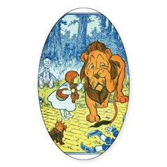 Cowardly Lion Oval Decal