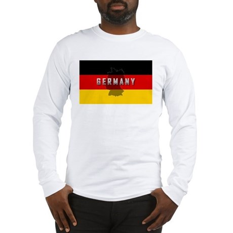 Germany Flag Extra Long Sleeve T-Shirt