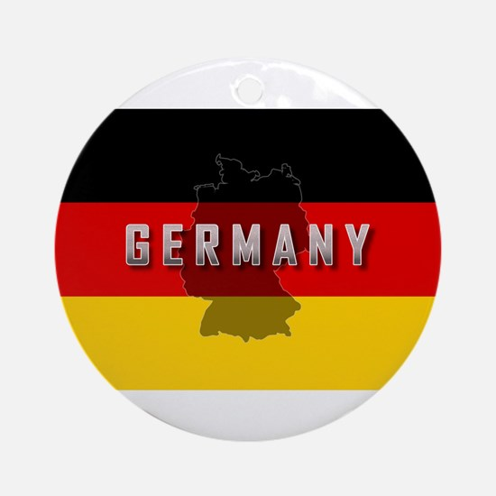 Germany Flag Extra Ornament (Round)