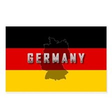 Germany Flag Extra Postcards (Package of 8)