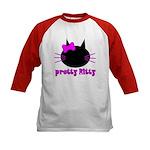 Pretty Kitty Kids Baseball Jersey