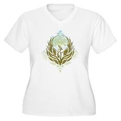 Stylized Phoenix Women's Plus Size V-Neck T-Shirt
