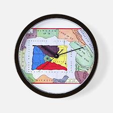 Map Of Oz Wall Clock