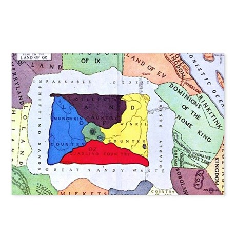 Map Of Oz Postcards (Package of 8)