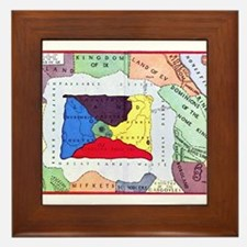 Map Of Oz Framed Tile