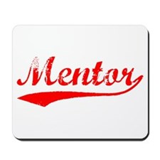 Vintage Mentor (Red) Mousepad