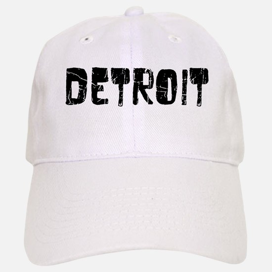 Detroit Faded (Black) Baseball Baseball Cap