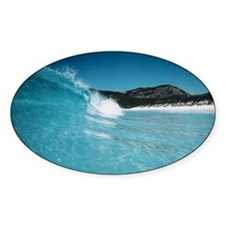 Aqua Wave, Esperance WA Oval Decal