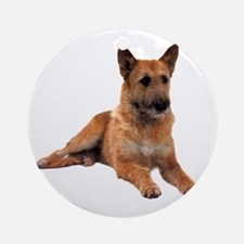 Belgian Shepherd Sitting Ornament (Round)