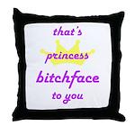 Filthy throw pillow