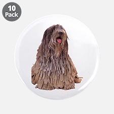 "Bergamasco Sheepdog Sitting 3.5"" Button (10 pack)"