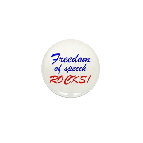 Freedom of Speech Rocks! Mini Button (10 pack)