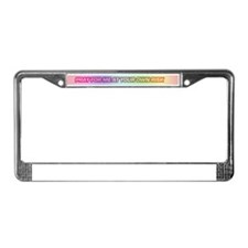 Rainbow Pray for Me zinger License Plate Frame