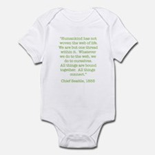 Nature Quotes 1 Infant Bodysuit