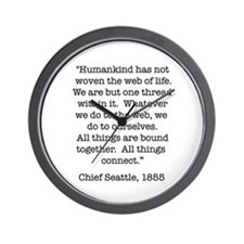 Nature Quotes 1 Wall Clock