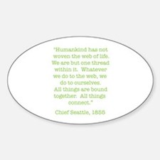 Nature Quotes 1 Oval Decal