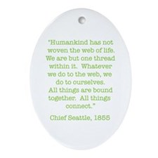 Nature Quotes 1 Oval Ornament