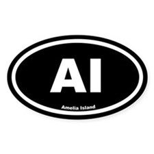 AI Amelia Island Black Euro Oval Decal