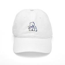 Westie Mom In Pearls Baseball Cap