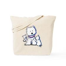 Westie Mom In Pearls Tote Bag