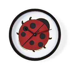 Cute Ladybug Design 2 Wall Clock