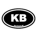 KB Kure Beach Black Euro Oval Sticker