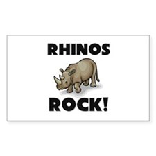 Rhinos Rock! Rectangle Decal