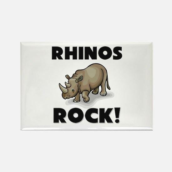 Rhinos Rock! Rectangle Magnet