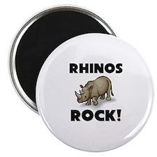 """Rhinos Rock! 2.25"""" Magnet (10 pack)"""