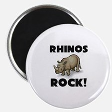 "Rhinos Rock! 2.25"" Magnet (10 pack)"