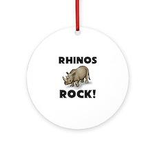 Rhinos Rock! Ornament (Round)