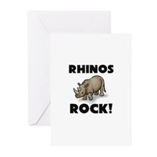Rhinos Rock! Greeting Cards (Pk of 10)