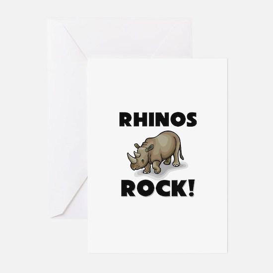 Rhinos Rock! Greeting Cards (Pk of 10)