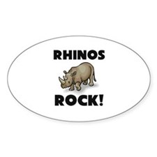 Rhinos Rock! Oval Decal