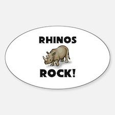 Rhinos Rock! Oval Decal