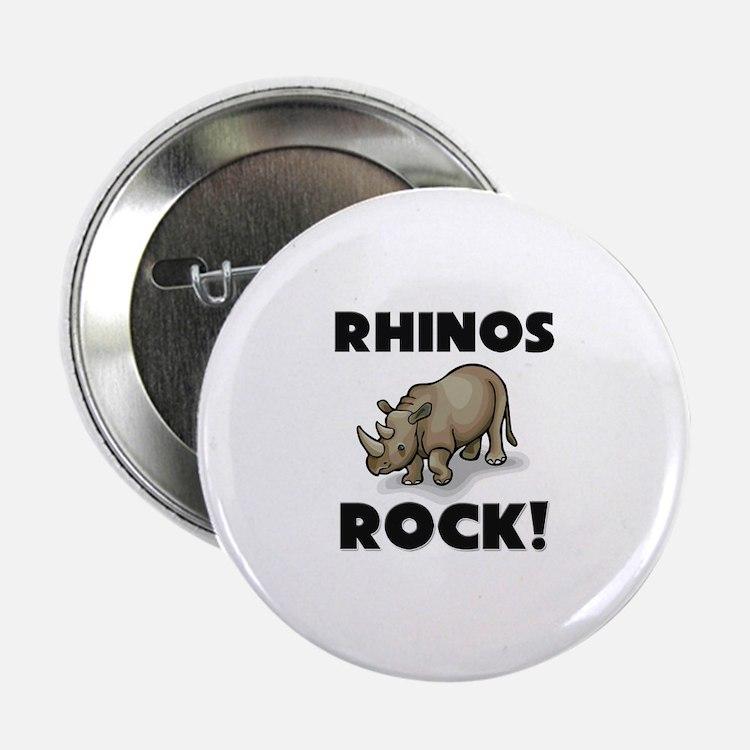 "Rhinos Rock! 2.25"" Button"