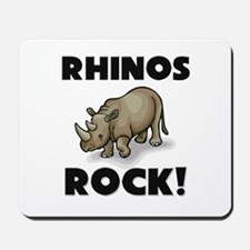 Rhinos Rock! Mousepad