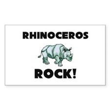 Rhinoceros Rock! Rectangle Decal
